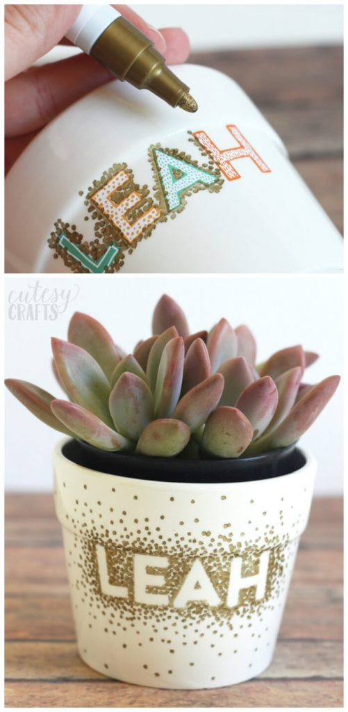 12-Cute DIY Flower Pots Ideas to Beautify Your Home-homenosy
