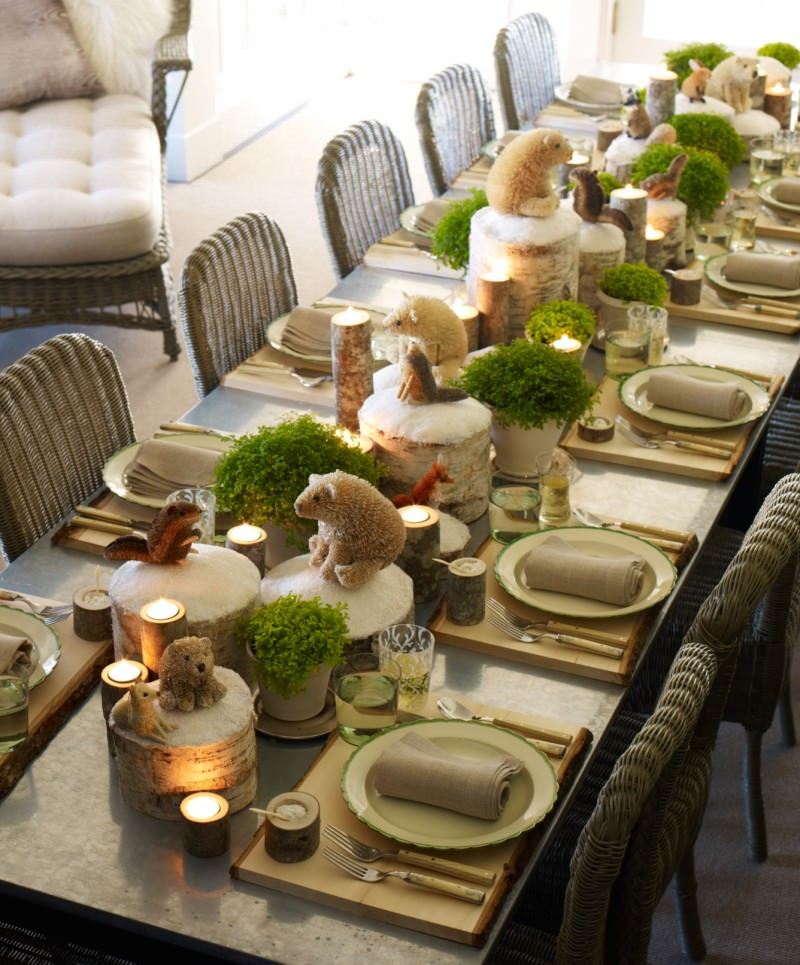 6-Animal And Wooden Table Decor For Christmas