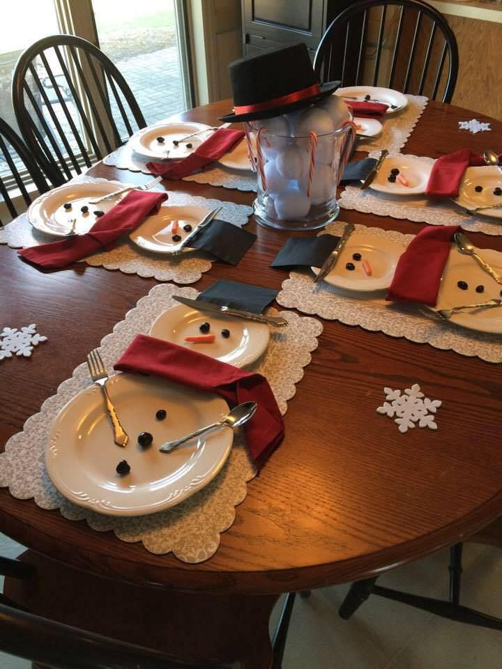 9-The Dining Table With Snowman Decor