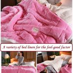 A variety of bed linen for the feel-good factor