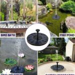 Solar garden fountain a smart and ecological choice