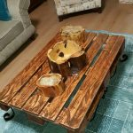The most beautiful coffee table models made of wood 1