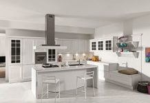 The contemporary kitchen emphasises conviviality