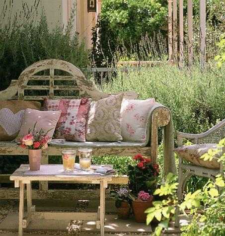 Garden benches for sunny days