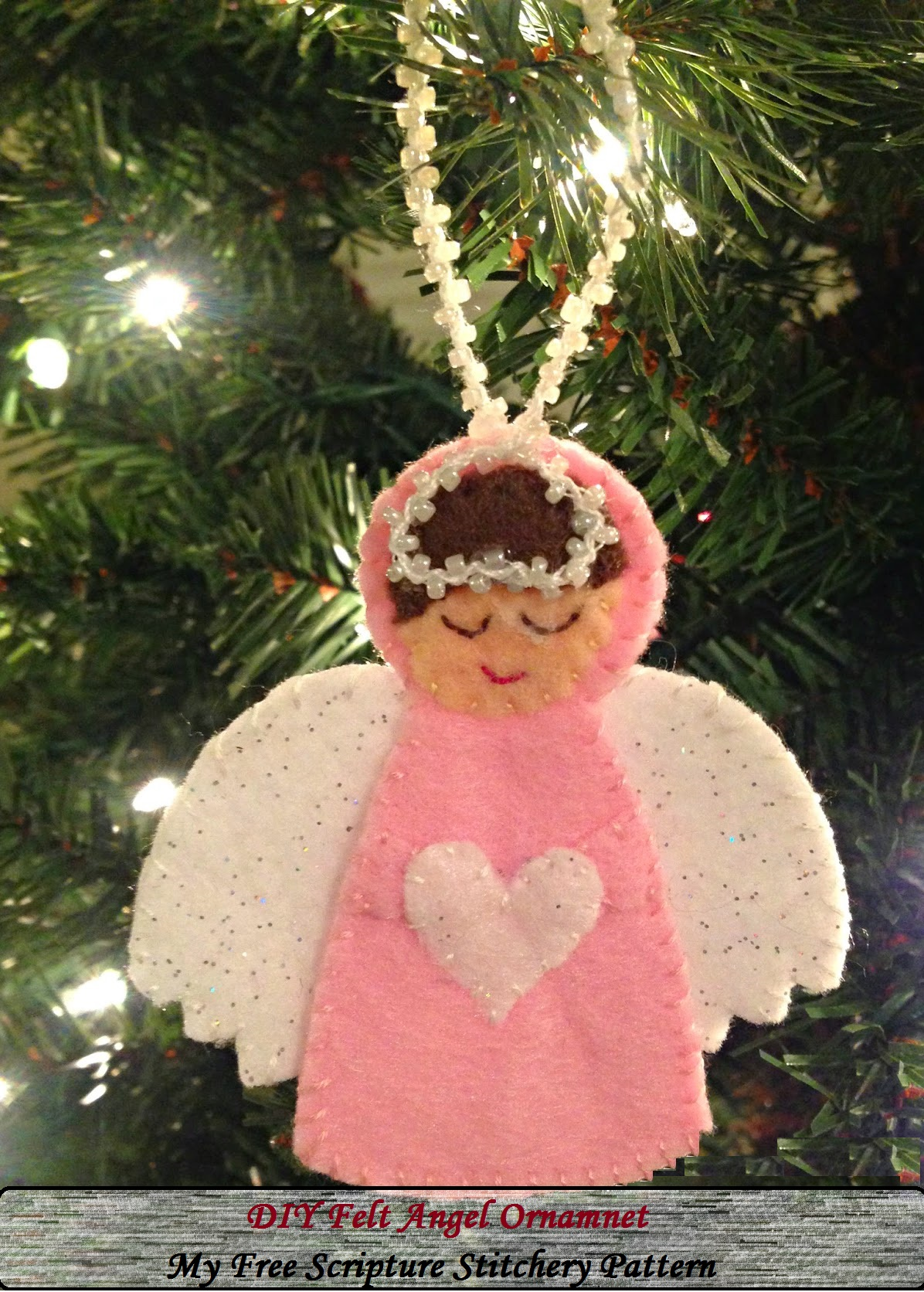 DIY Felt Angel Ornamnet - Angel Ornament template