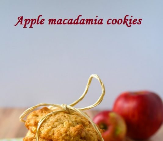 Apple macadamia cookies