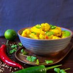 Cauliflower and potato curry